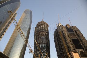 Baustelle in Abu Dhabi