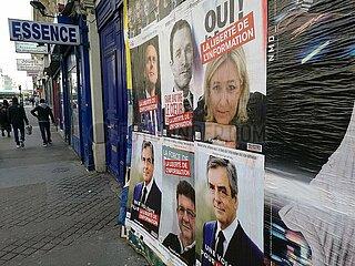 Kandidaten fuer die Praesidentschaftswahl in Frankreich 2017