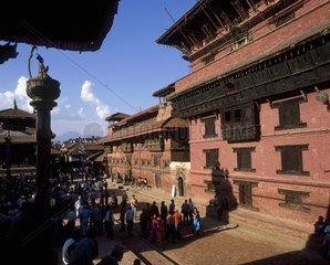 Nepal  Patan Durbar square and temple