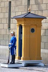 Schweden Stockholm Koenigspalast Garde
