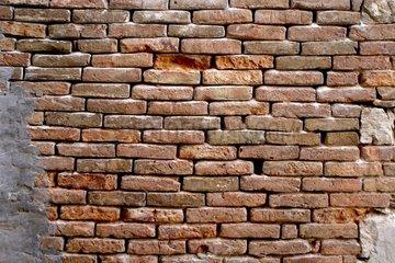 Ziegelwand Ziegelmauer Mauer mit Backsteinziegel
