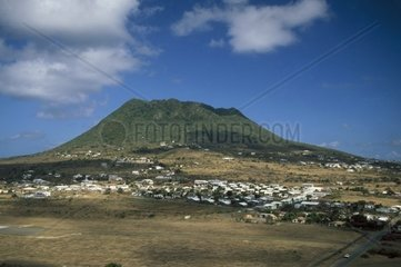 Caribbean  Netherland Antilles  Saint Eustatius  The Quill  volcano extinct