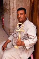 Hoehepunkt einer Aegyptenreise Der Felstempel in Abu Simbel Tempelwaechter