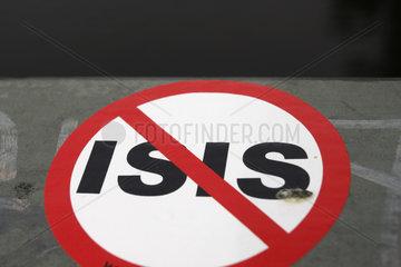 ISIS Verbotsschild
