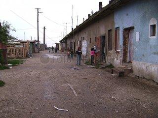 Zigeunersiedlung in Ungarn