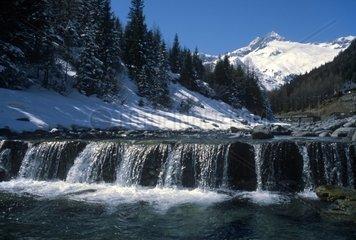 Italy  Lombardy  Valmalenco  Monte Disgrazia  River