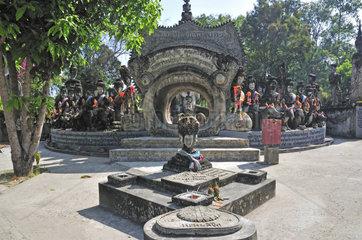 Das Rad des Lebens  Wat Khaek  auch Sala Kaew Ku Skulptur Park  Nong Khai  Thailand  Asien