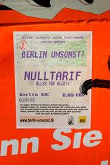 Berlin Umsonst  Nulltarif.