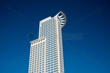 DZ Bank Tower der DZ Bank AG  Deutsche Zentral-Genossenschaftsbank  Hauptverwaltung im Westendtower  Kronenhochhaus  Frankfurt am Main  Hessen  Deutschland  Europa