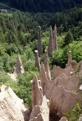 Italy  Trentino Alto Adige  Piramidi di Segonzano