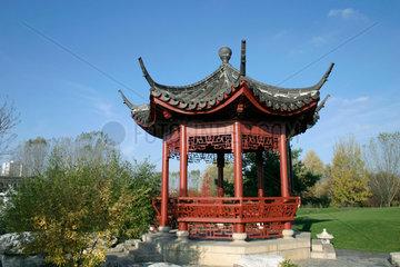 Berlin - Gaerten der Welt. Pavillon im Chinesische Garten