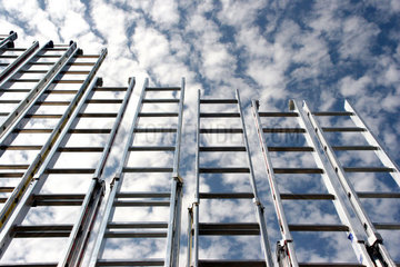 ladders rise up to the sky