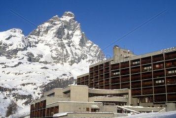 Italy  Aosta Valley  Cervinia  the Matterhorn