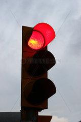 Verkehrsampel gelbes Blinklicht