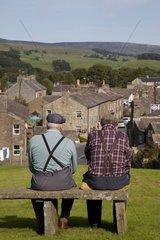 UK  England  Yorkshire  Dales National Park  Hawes village