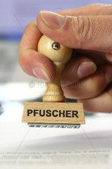 Stempel Pfuscher
