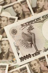 Japanische Yen Geldscheine aus Japan