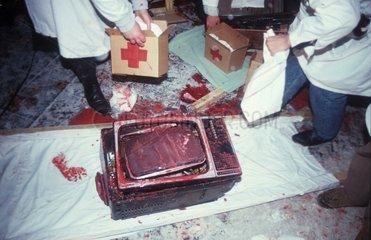 Blutiger Fernseher