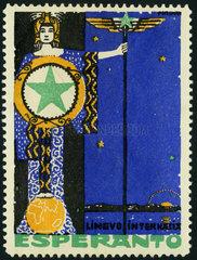 Esperanto  Plansprache  Werbemarke  1912