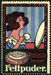 Kosmetikwerbung  Puder  1912