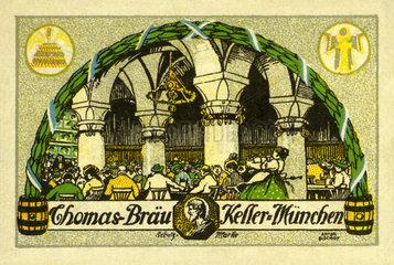 Thomasbraeu-Keller  Muenchner Bierkeller  Werbung  1912