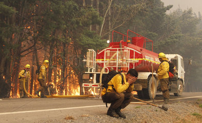 CHILE-CAUQUENES-FIRE