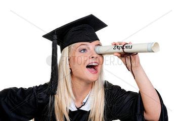 Junge Frau mit Doktor Hut sucht Arbeit: