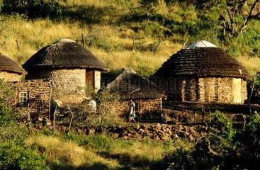 South Africa  KwaZulu-Natal village  huts