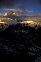 Italy  Aosta Valley  Alps  the Mont Blanc chain