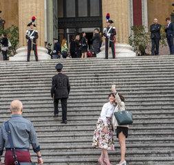 Selfi am Teatro Massimo