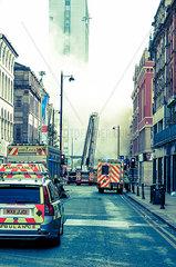 Manchester  Feuerwehreinsatz
