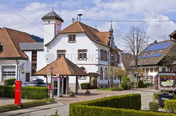 Rathaus von Simonswald  Simonswaeldertal  Schwarzwald.