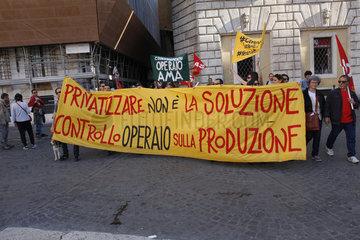 Demo Gegen Privatisierung in Rom