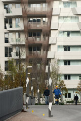 Italy  Lombardy  Milan  CityLife district  residences designed by Daniel Libeskind