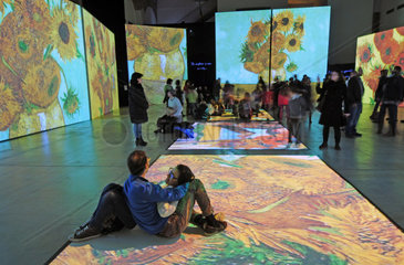 Italy  Lombardy  Milan  Fabbrica del Vapore  Van GoghAlive exhibition of his paintings computerized