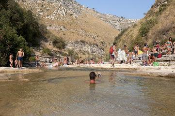 Italy  Sicily  Avola  Cavagrande del Cassibile Nature Reserve