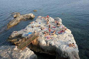 Italy  Sicily  Siracusa  Ortigia  Forte Vigliena solarium