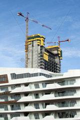 Italy  Lombardy  Milan  CityLife district  condominium designed by Zaha Hadid