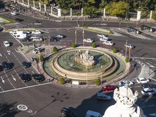 Plaza de La Cibeles and Calle Alcala. Madrid. Spain