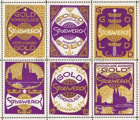 Stollwerck  Schokolade  Reklamemarken  1912