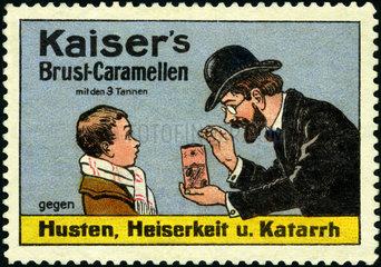 Werbung fuer Hustenmittel  1913