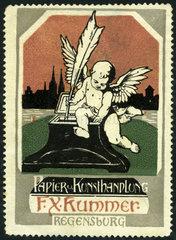 Werbung fuer Schreibwarengeschaeft  1909