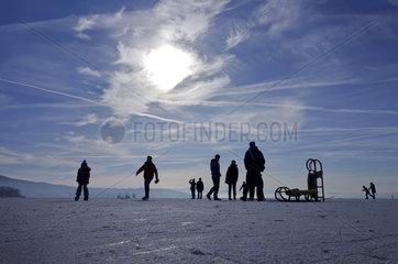 Winterstimmung am Ammersee  Bayern