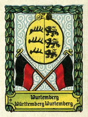 Wuerttemberg  Landeswappen  1890