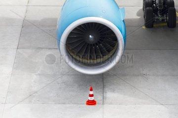 Turbine eines Duesenjet