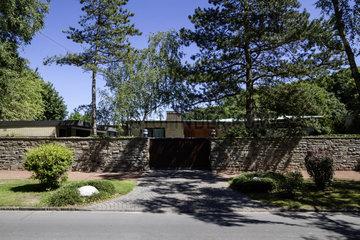 Der Tod von Berthold Beitz - Wohnhaus in Essen Bredeney