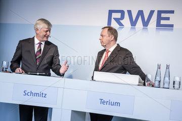 RWE AG Bilanzpressekonferenz 2016 - Rolf Martin Schmitz und Peter Terium