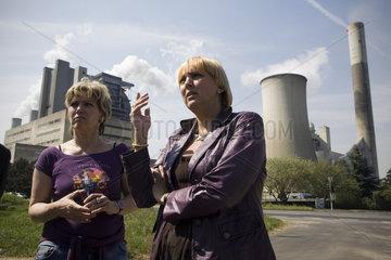Auftaktaktion Klimaaktionstage von Buendnis 90/Die Gruenen in NRW