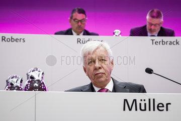 Hauptversammlung 2015 der Evonik Industries AG - Dr. Werner Mueller  Aufsichtsratsvorsitzender der Evonik Industries AG und Vorstandsvorsitzender der RAG-Stiftung