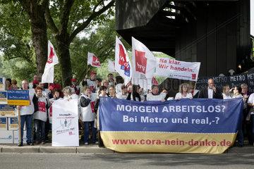 Hauptversammlung der METRO AG - ver.di Demonstration